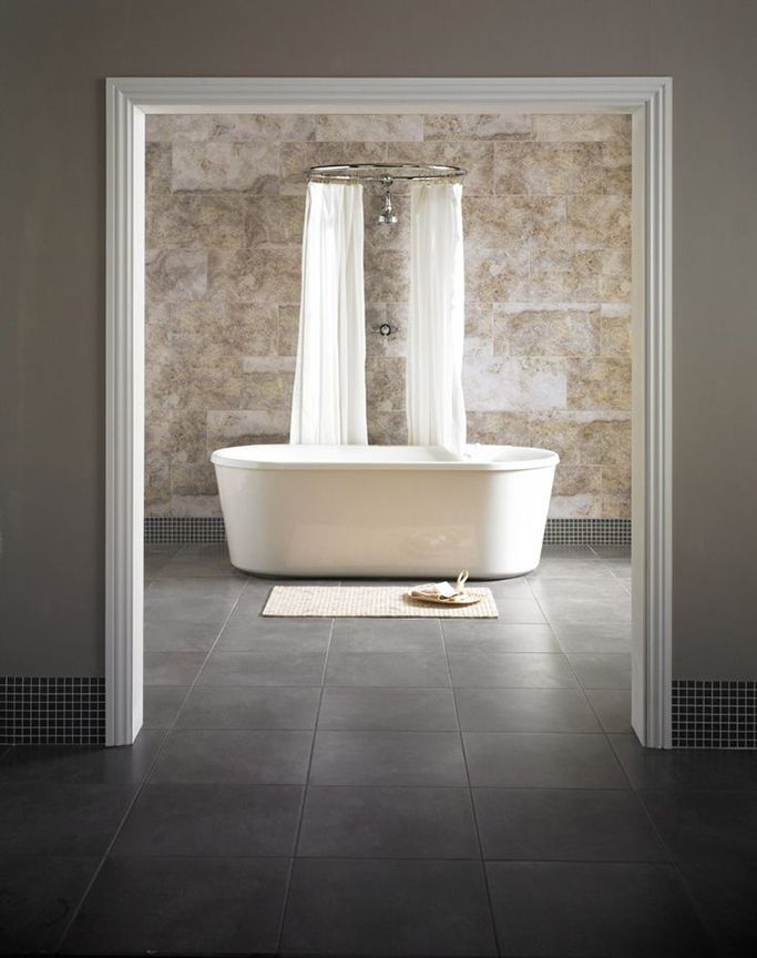 Silver Travertine Honed Wall and Floor Tile