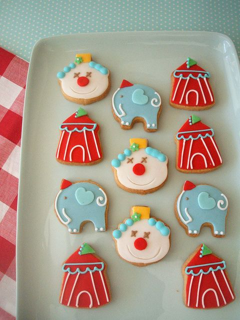 images of party cookies | circus party cookies | Flickr - Photo Sharing!