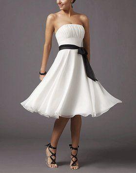 white chiffon strapless pleated bust w sash size small feminine