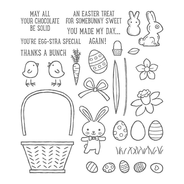 Basket Bunch Photopolymer Stamp Set by Stampin' Up!