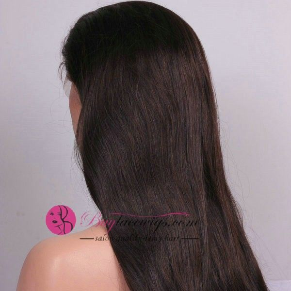 24 Inch #4 Silky Straight Brown U Part Wig