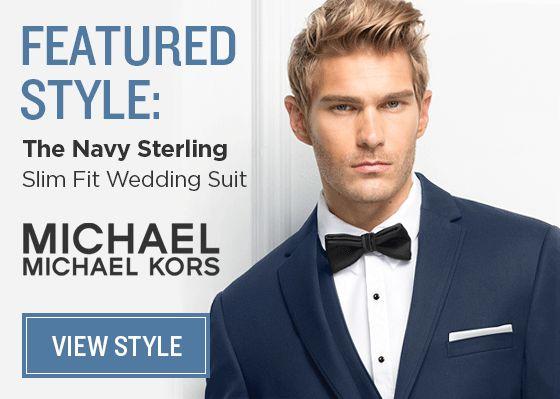 Navy Suit Michael Kors.