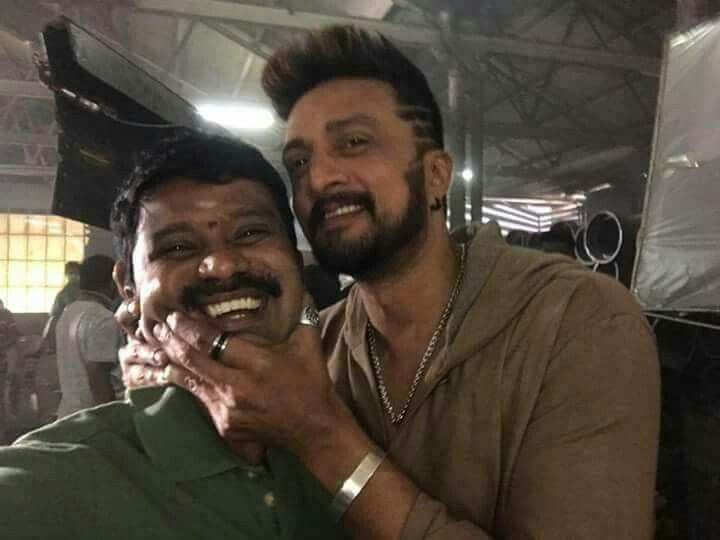 Second day of #TheVillain with  #KicchaSudeep and #Prems    It's a Kick Start