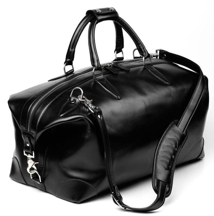 Allen Edmonds Park Avenue Collection - Black Leather Duffel Bag - Made in the USA Allen Edmonds Leather Duffle Bag, Leather Luggage, Black Leather Bags, Leather Men, Leather Bags For Men, Duffle Bag Travel, Duffel Bag, Mens Travel Bag, Travel Bags