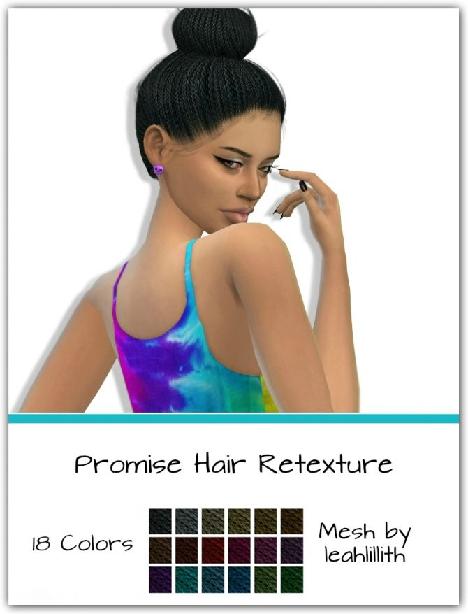 Promise Hair Retexture by maimouth at SimsWorkshop via Sims 4 Updates