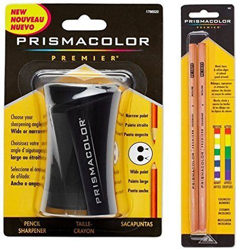 #Prismacolor blender pencil colorless, 2-pack (962). And prismacolor premier pencil sharpener are specifically designed to sharpen prismacolor pencils to a perfe...