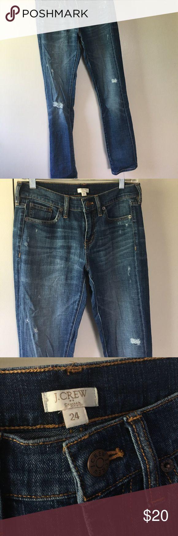 J Crew distressed boyfriend jeans size 24 J crew Factory J. Crew Jeans Boyfriend
