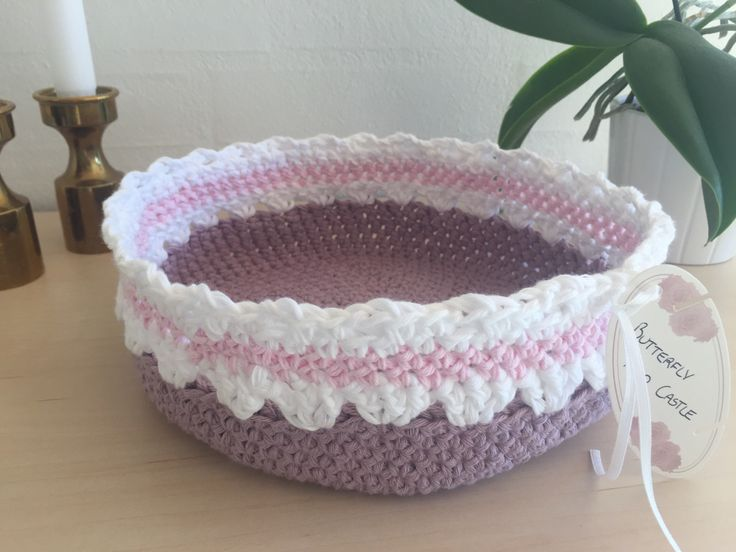 Crochet basket / Hæklet kurv