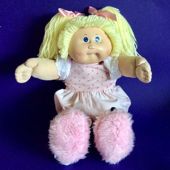 Cabbage Patch Kid Doll Girl With Blonde Hair Blue Eyes Pink Etsy Cabbage Patch Kids Dolls Cabbage Patch Kids Cabbage Patch Babies