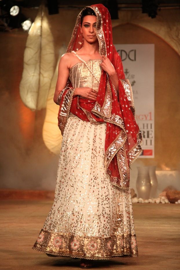 Kotwara by Meera and Muzaffar Ali. To view more, Visit: http://www.vogue.in/content/delhi-couture-week-who-what-wear#53