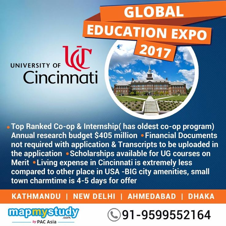Have you been dreaming of studying at the University of Cincinnati? Visit us at the #GlobalEducationExpo and meet the representatives from various universities of #USA and #Australia
