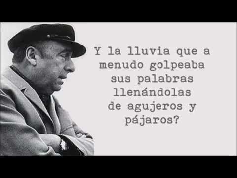 Pablo Neruda - Explico algunas cosas (en la voz del autor) - YouTube