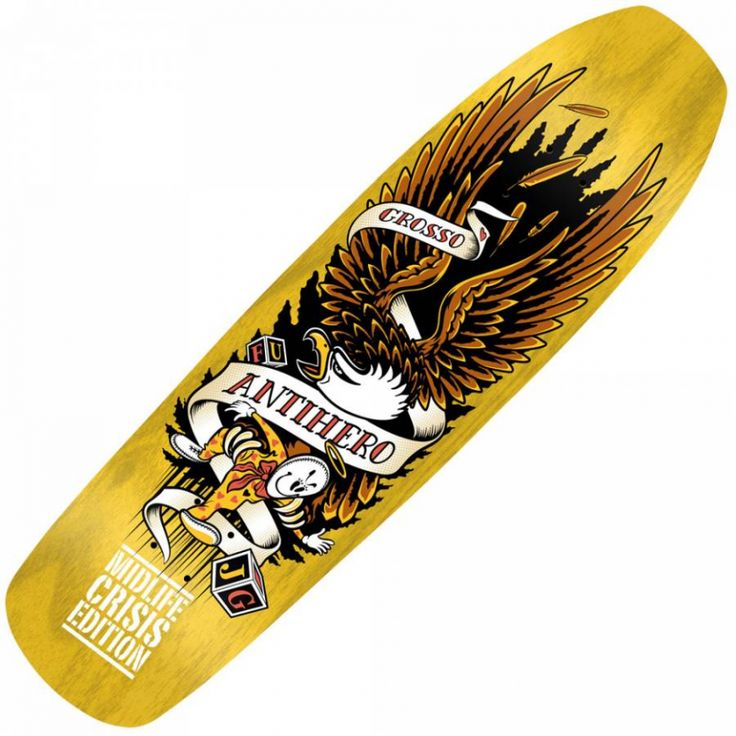 ... Skateboards Anti Hero Grosso Midlife Crisis LTD Skateboard Deck 8.75