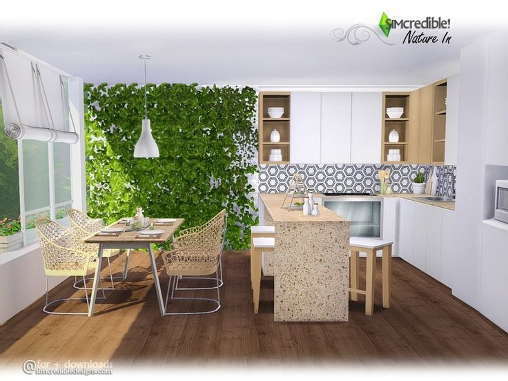 A New Modern Kitchen With Simple And Clear Lines, And A Lovely Touch Of  Nature