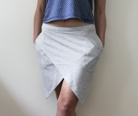 spódnica z szarej dresówki