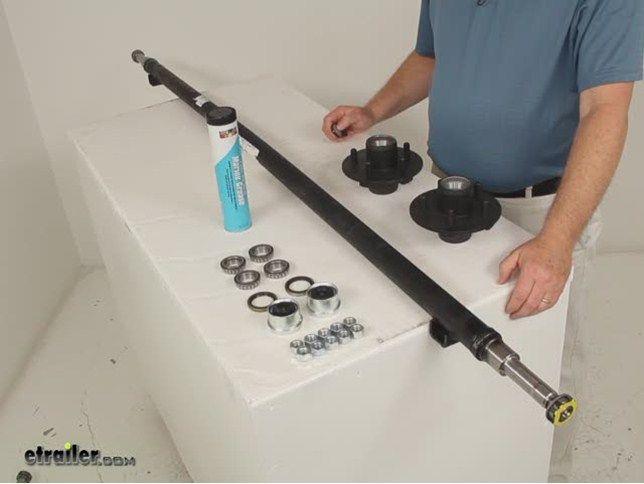 """Dexter Trailer Axle w/ Idler Hubs - EZ-Lube - 5 on 4-1/2 Bolt Pattern - 72"""" Long - 2,000 lbs Dexter Trailer Axles 20545I-EZ-72-15"""