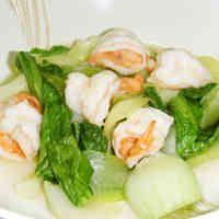 青梗菜とエビの中華風炒め