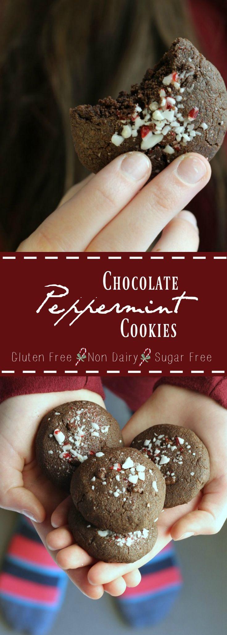 Double Chocolate Peppermint Cookies (Vegan + Gluten Free) | gardeninthekitchen.com