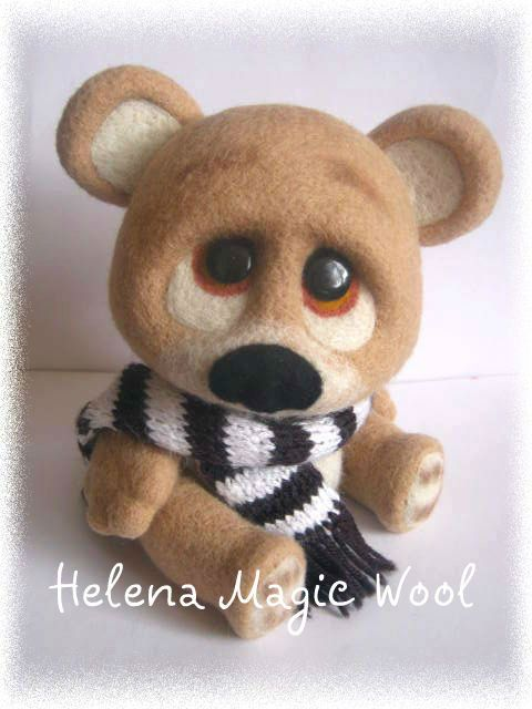 Needle Wool felting - Teddy bear
