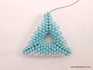 DIY Beading 3D beaded triangle earrings tutorial