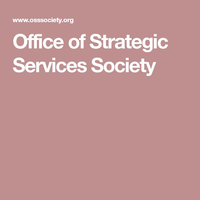 Office of Strategic Services Society