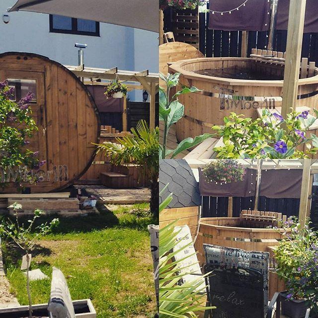 Badetonne und Fasssauna :) TimberIN.com    #badezuber #nederland #nederlands #netherlands #hottub #germany #deutschland #austria #Österreich #uk #switzerland #schweiz #vildmarksbad #udeliv #livskvalitet #danmark #spa #france #bainnordique #garten #jardin #garden #woodfiredhottub #badestamp #norge🇳🇴 #norway #badtunna #sverige #sweden🇸🇪    #Regram via @timberin.mb