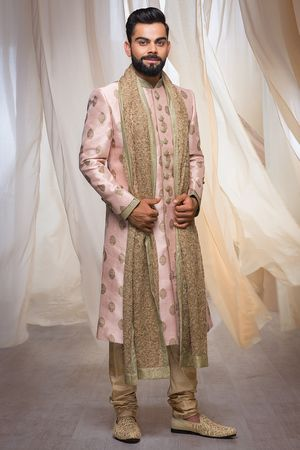 Stylish Sherwani with the Touch of Golden Sequin work Img1