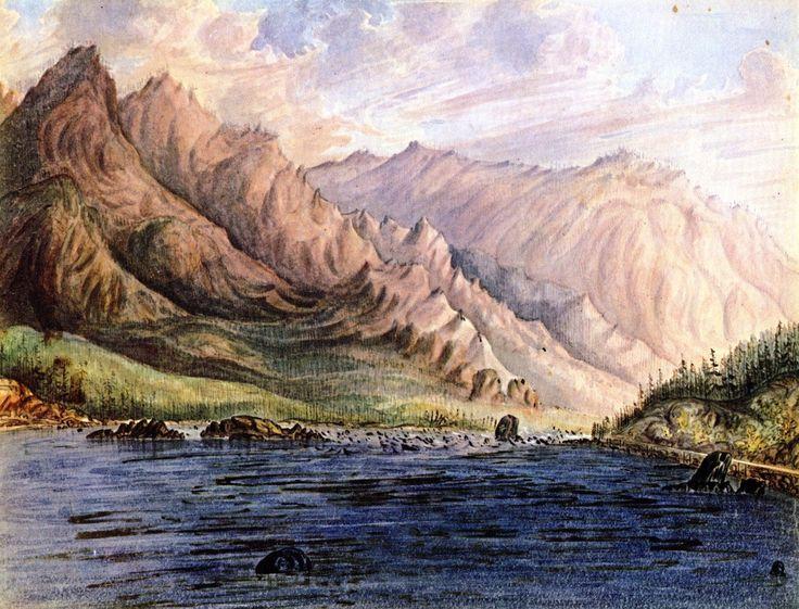 Без рамы Холст Печатает-Пороги, Columbia River-Джеймс Мэдисон Олден