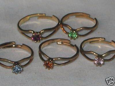Adjustable birthstone rings