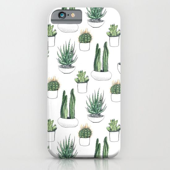 watercolour cacti and succulent iPhone & iPod Case