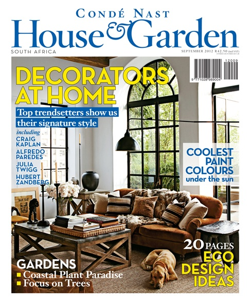 Condé nast house garden magazine south africa september 2012