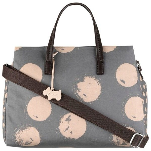 Radley Medium Moon Dots Fabric Grab Bag, Grey (€90) ❤ liked on Polyvore featuring bags, handbags, purses, accessories handbags, animal print handbags, polka dot handbag, grey handbags and radley handbags