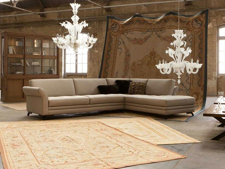 Sectional fabric sofa perspective nouveaux classiques for Catalogue canape roche bobois