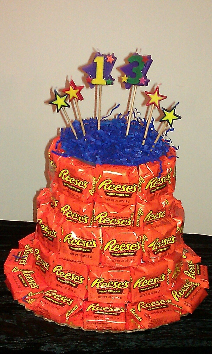 how to make a birthday cake out of candy bars