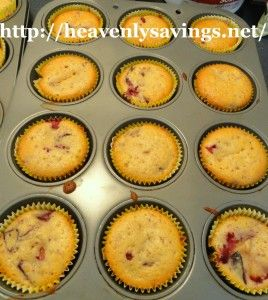 """Plum muffins - Delicious! I didn't have muffin liners so I made it in a 9x13 pan and cut into 12 squares for """"muffin bars"""". Baked for max. time on recipe. :)"""