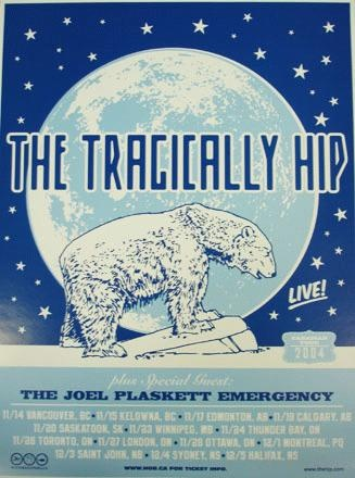 tour poster for the Tragically Hip's 2004 Canadian tour.