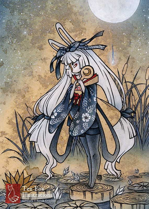 Miri Moon Rabbit Bunny Yokai Japanese By