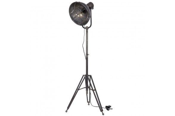 Trendhopper ● Geef je interieur een stoer karakter met deze antractiet industriële vloerlamp.