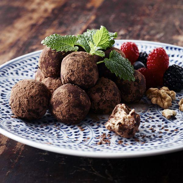 Ricottakugler med kakao og valnødder