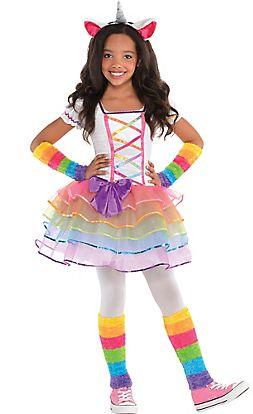 5deb63a137 Girls Rainbow Unicorn Costume   costumes   Unicorn halloween costume ...