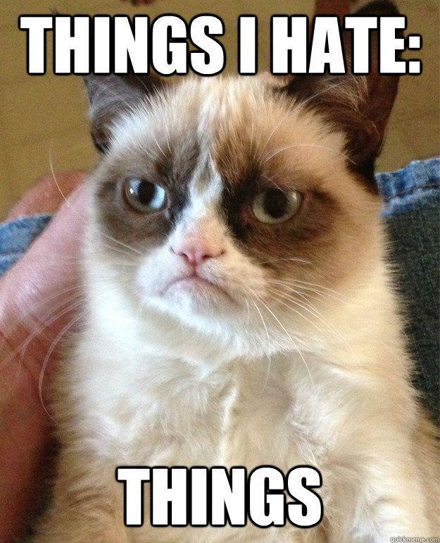 things I hate: things
