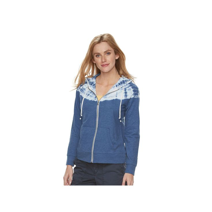 Women's SONOMA Goods for Life™ Tie-Dye French Terry Hoodie, Size: Medium, Dark Blue