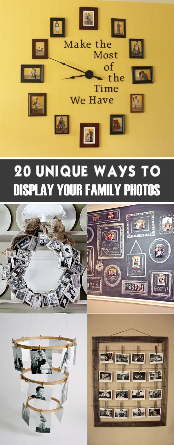 Super cool photo display ideas that will bring your memories to life.