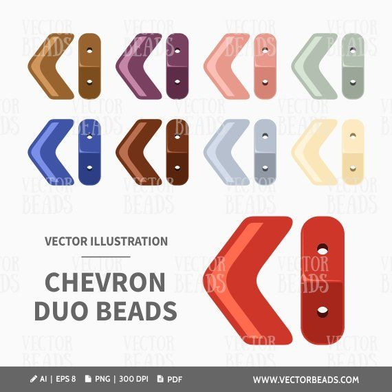 Kvetinas Duo 2 Pictures Free Download: Vector Clipart Pack Of Chevron Duo Beads