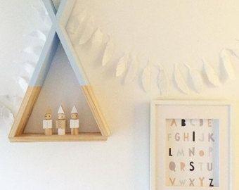 Tipi étagère étagères blanc Decor salle de pépinière par AhAhOnline