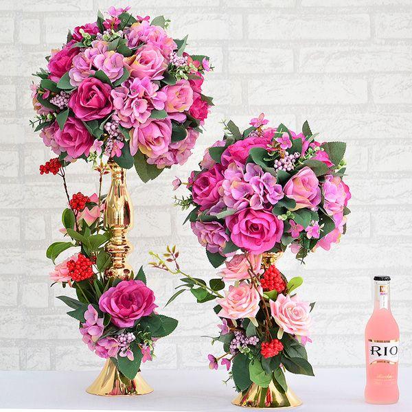 Новая таблица цветов свадьбы реквизит свадебного стола отель цветочная композиция основная таблица украшение стола цветы Русалки
