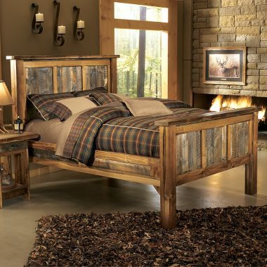 Best 25 rustic bedding sets ideas on pinterest rustic bedding rustic cabin master bedroom - Adirondack bed frame ...