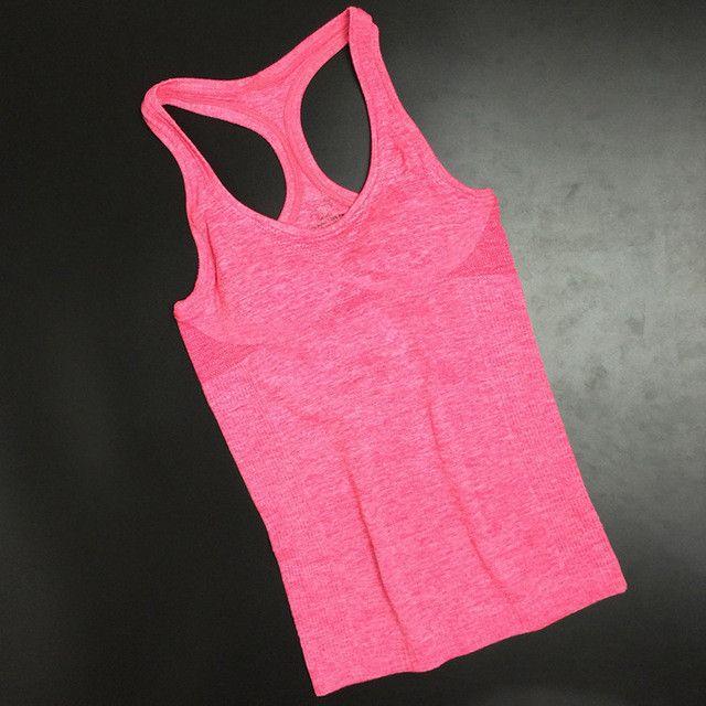 Tank Top Women Girls Vest No Rims Workout Shirts For Women Crop Tops Camiseta Tirantes Mujer Fitness Feminino Womens Tops