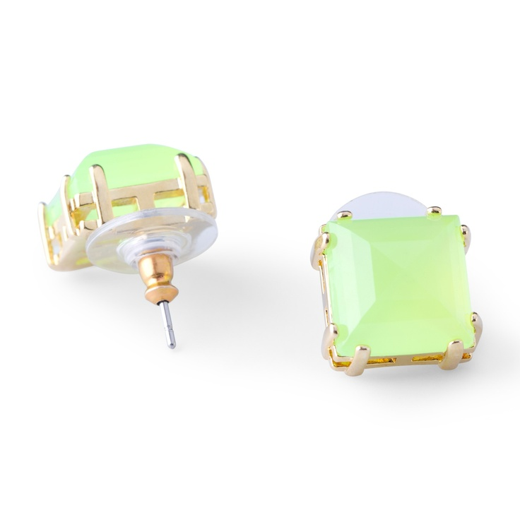 Square Bling Studs $34.00