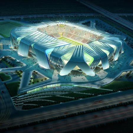 Dalian is one of the major Chinese cities known for football and they have just recently completed a new football stadium